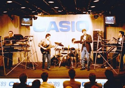 1989 Harry at Frankfurter Messe for Casio demo-room