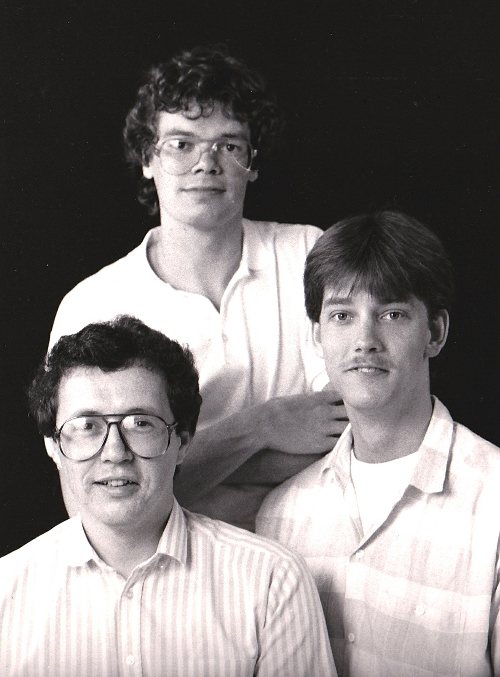 1986 Harry Happel, Hans van Oosterhout and Mark van Rooij