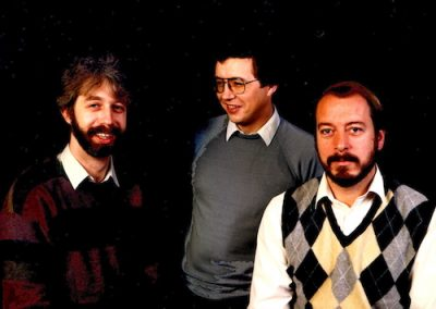 Intrioduction 1982 with Koos Wiltenburg, Harry Happel, Fred Krens