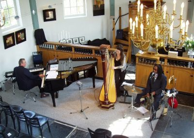 2002 with Eddie C and Petra Rosa in a church in Markenbinnen