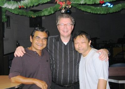 2004 with Eddie Jansen and Tan Boon Gee at Singapore Southbridge Jazzclub
